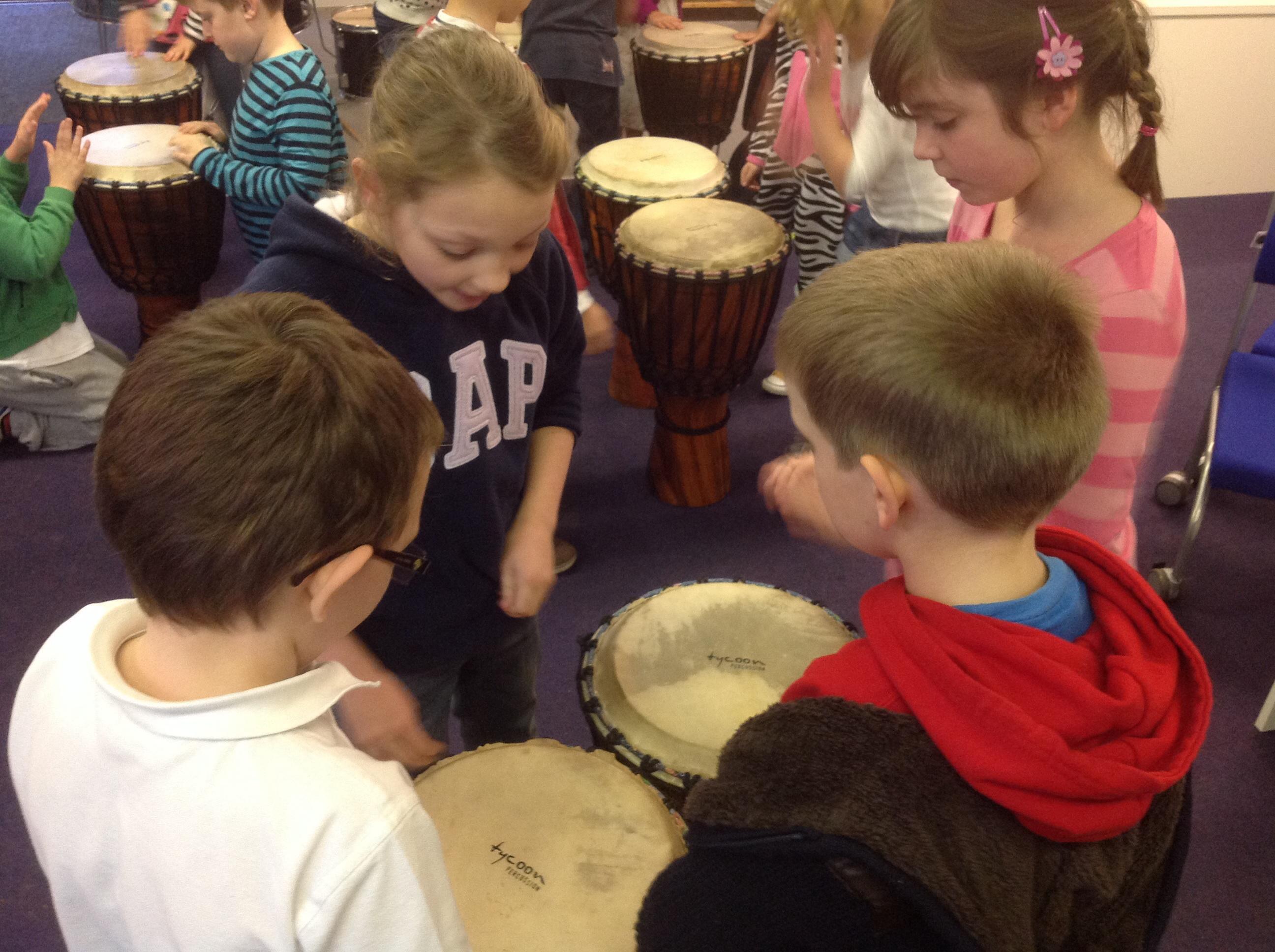 Rhythm with drumming!